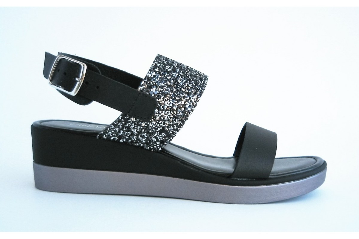 Compra CINZIA SOFT - sandali - neri - donna - calzature salimbene 7aa91ed4078